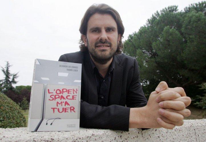 """Thomas Zuber et son livre """"L'open space m'a tuer"""""""