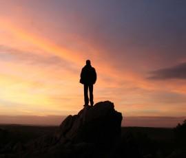 homme sommet horizon